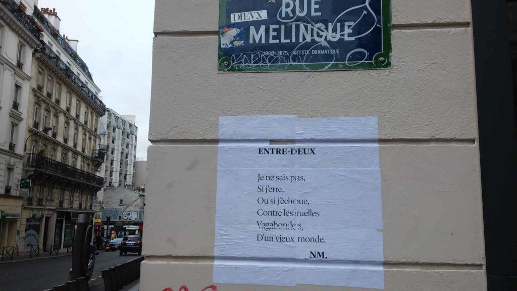 entre-deux, paris, rue melingue, poésie, nathalie man