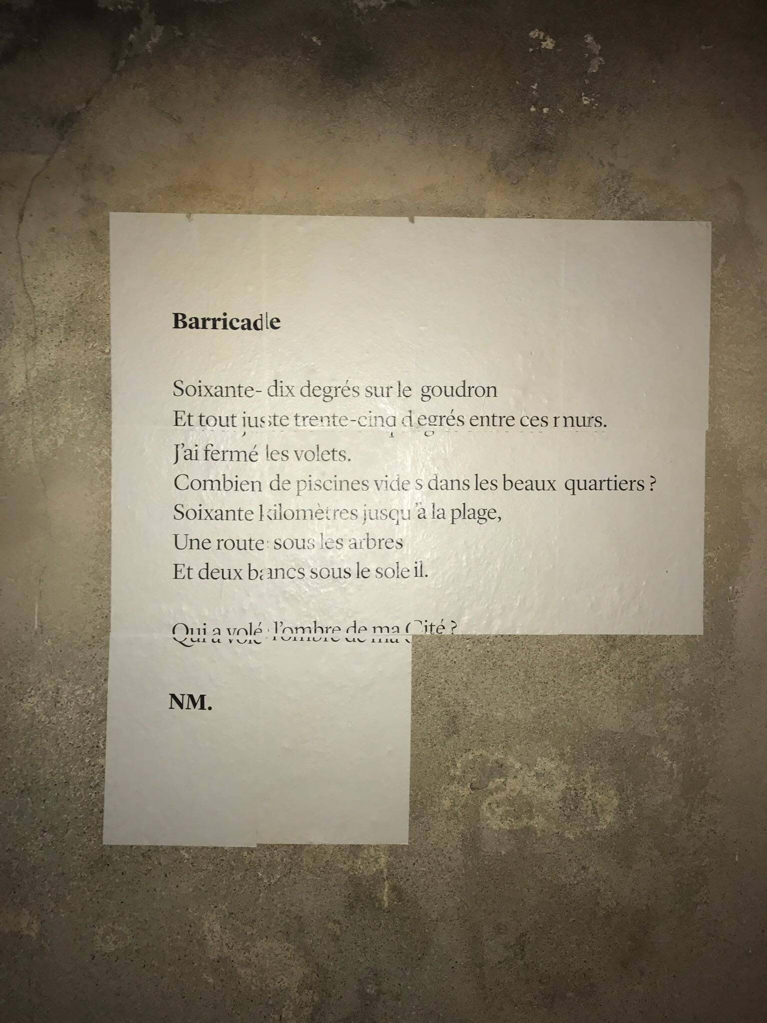 barricade, poésie, avignon, paul