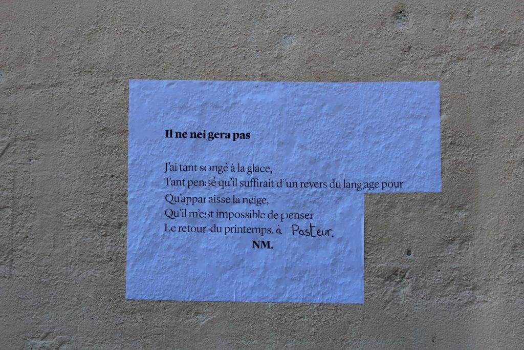 Il ne neigera pas, poésie, festival d'avignon off, 2017