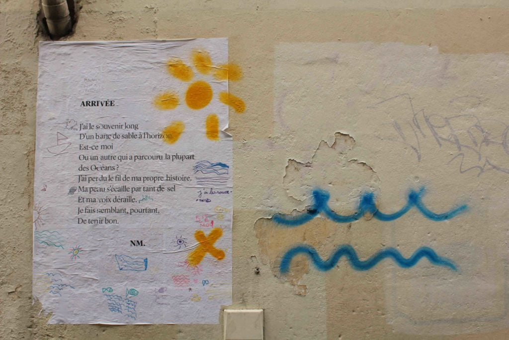 poème rue canihac bordeaux Arrivée nathalie man