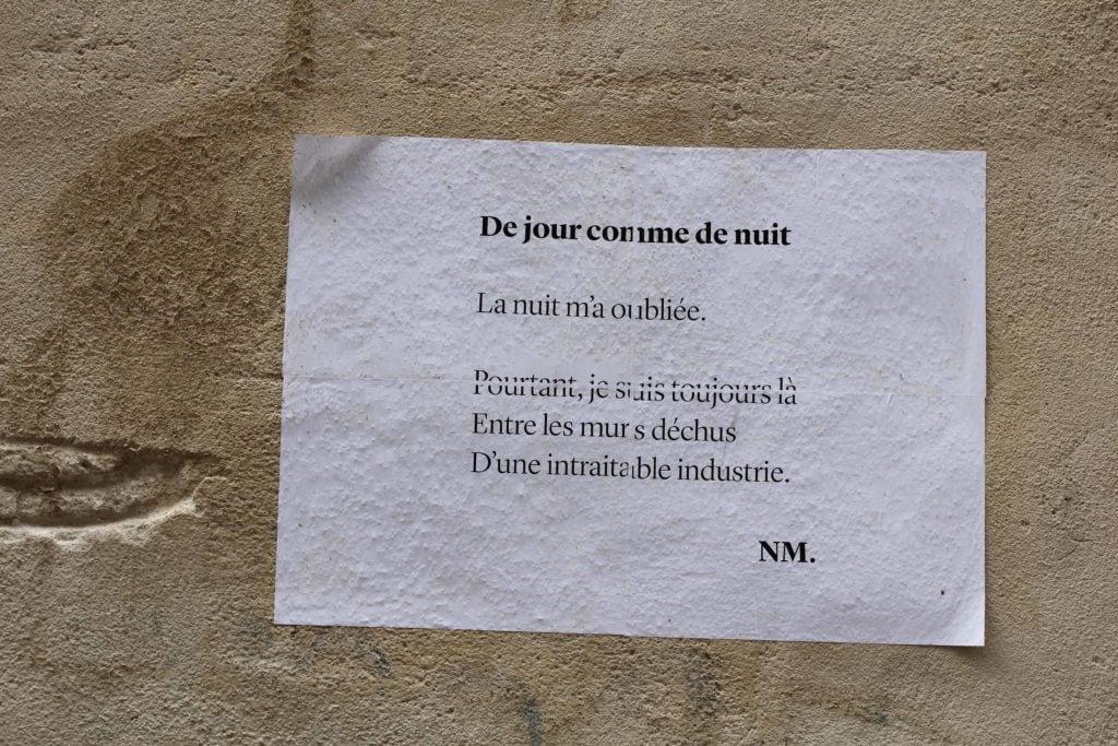De jour comme de nuit, Bordeaux, nathalie man, poésie