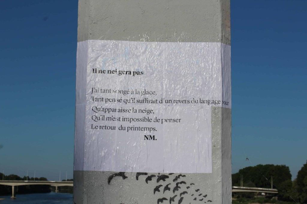il ne neigera pas, nathalie man, poésie, streetart