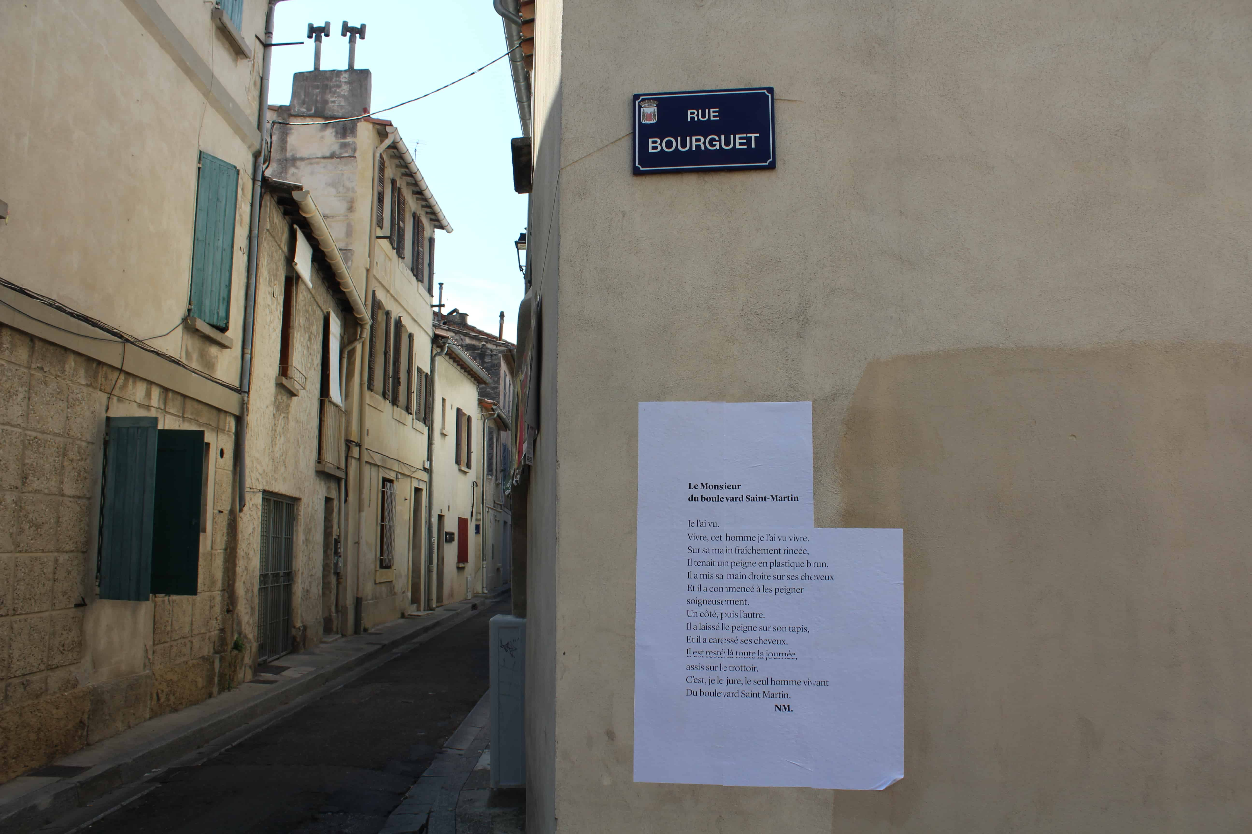 le monsieur du boulevard saint martin, nathalie man, poésie