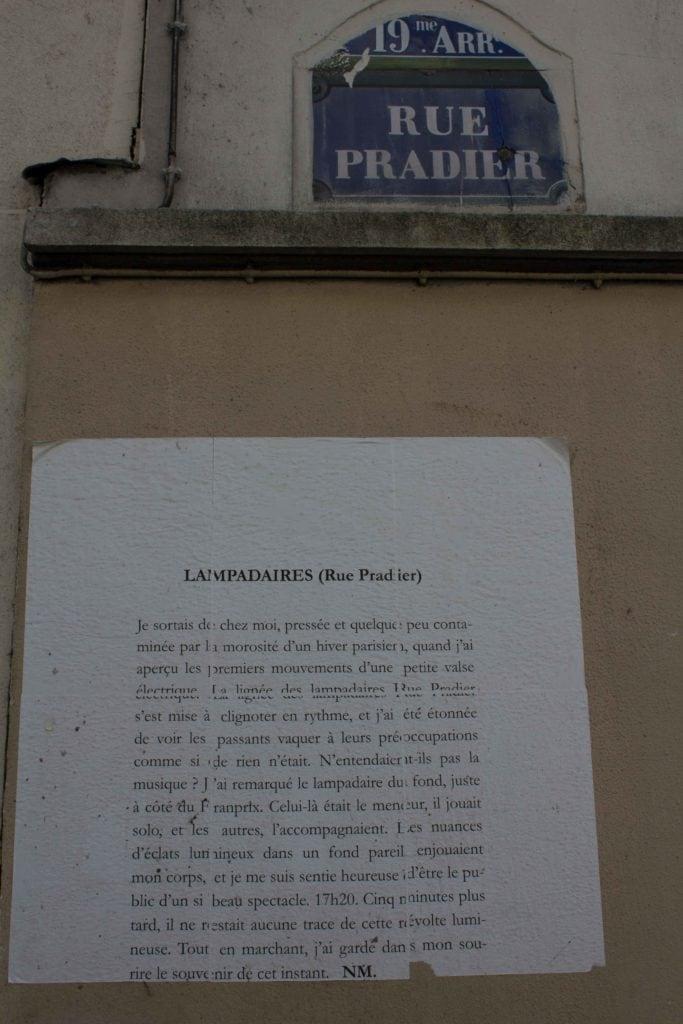 lampadaires, rue pradier, nathalieman, nm, poésie, poèmes de rue, streetart, paris