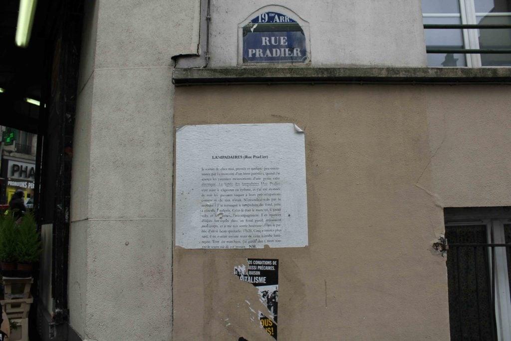 lampadaires, rue pradier, nathalieman, poésie