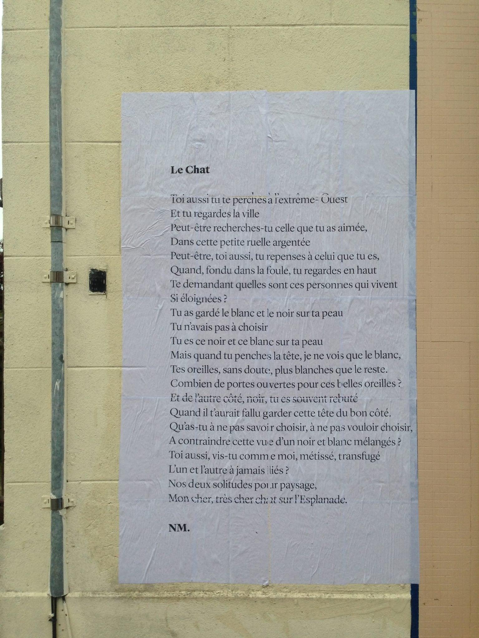Théâtre du levain, poème Le Chat, nathalieman
