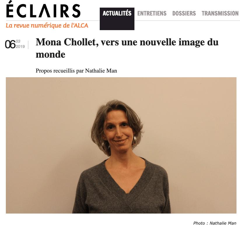 Mona Chollet vers une nouvelle image du monde, interview de Nathalie Man