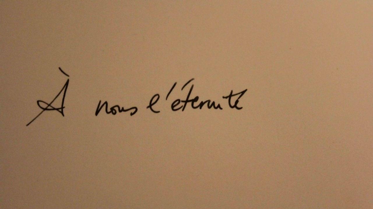A nous l'éternité, poème, nathalieman