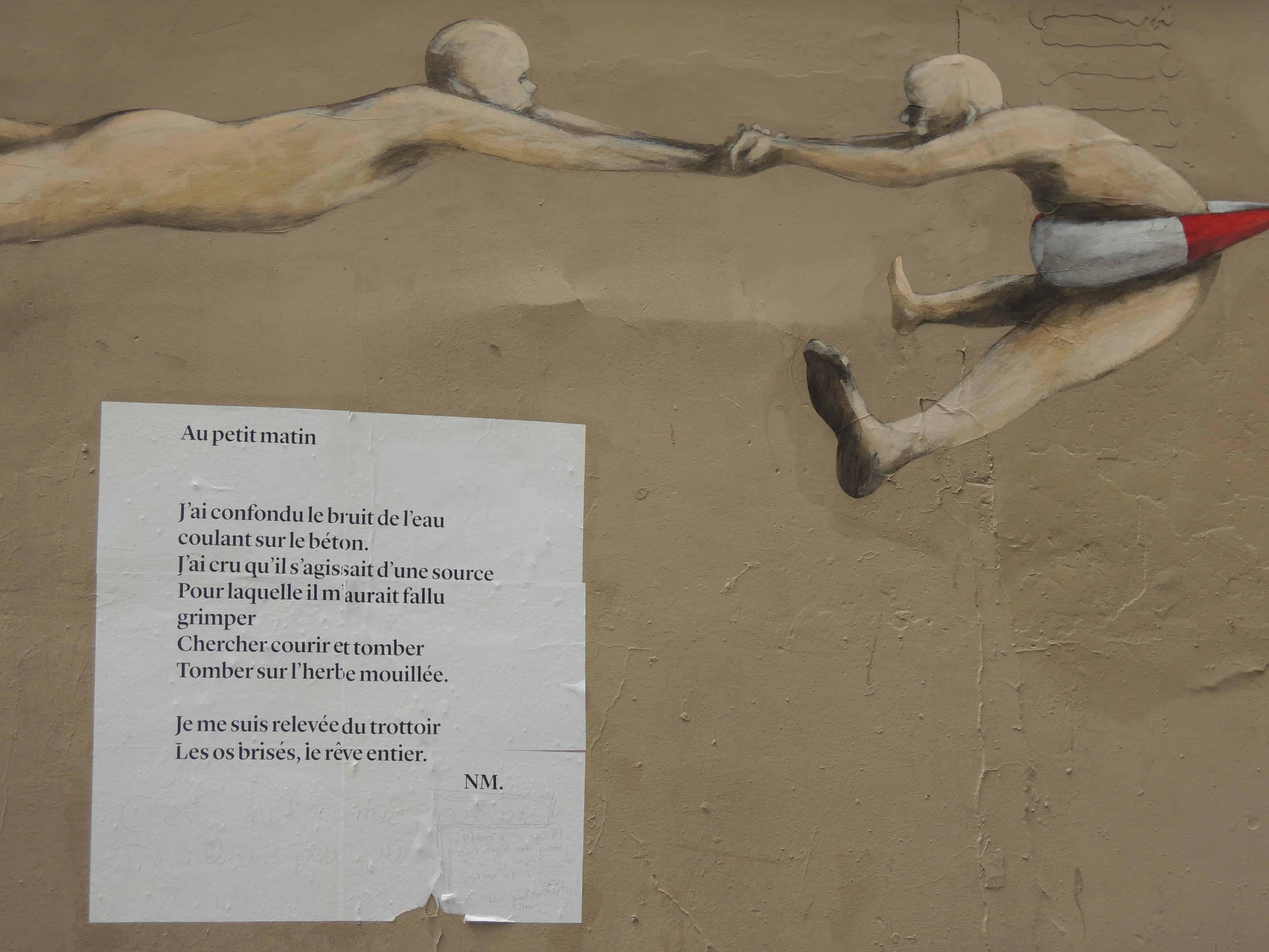 au petit matin, paris, nathalie man, poésie, poème de rue