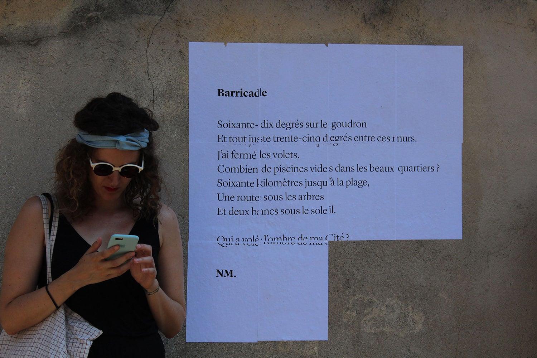 barricade, poésie, avignon, 2017