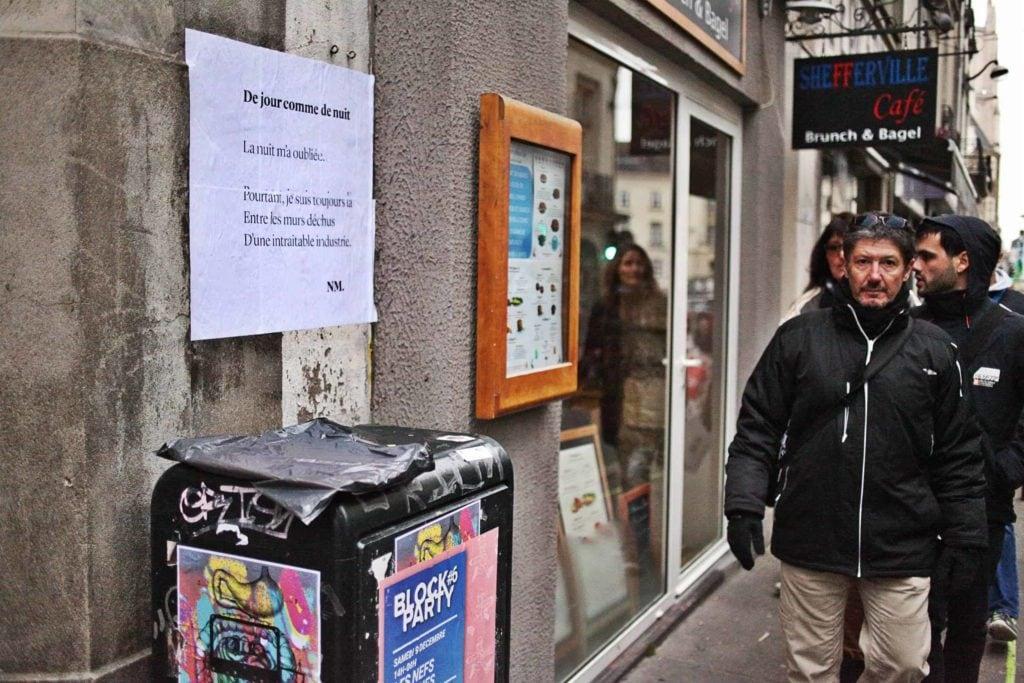 De jour comme de nuit, poésie, nantes, rue maréchal joffre, nathalie man, 2017