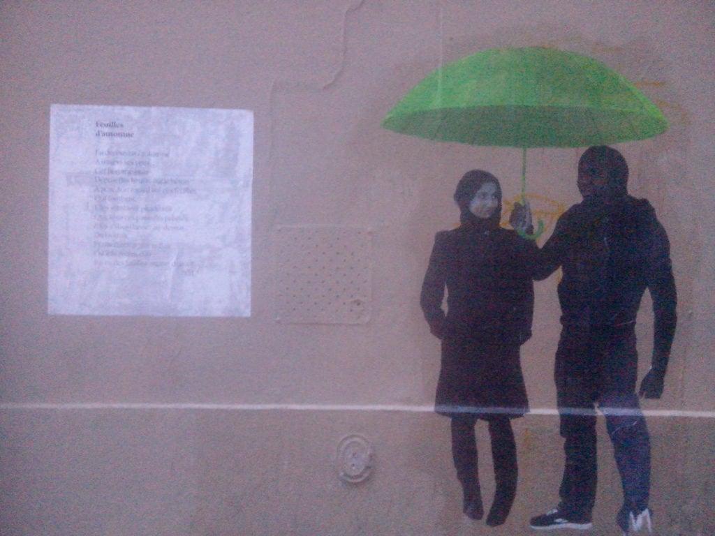 feuilles d'automne, nathalieman,poésie, street art