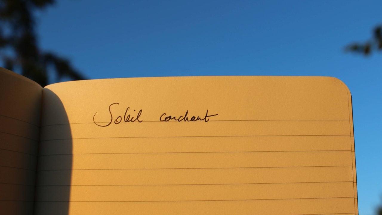 poème soleil couchant