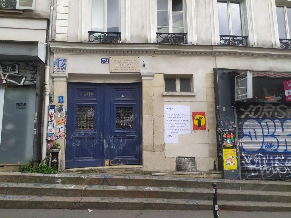 lutte nmpoetesse nathalieman poesie streetart paris belleville edithpiaf