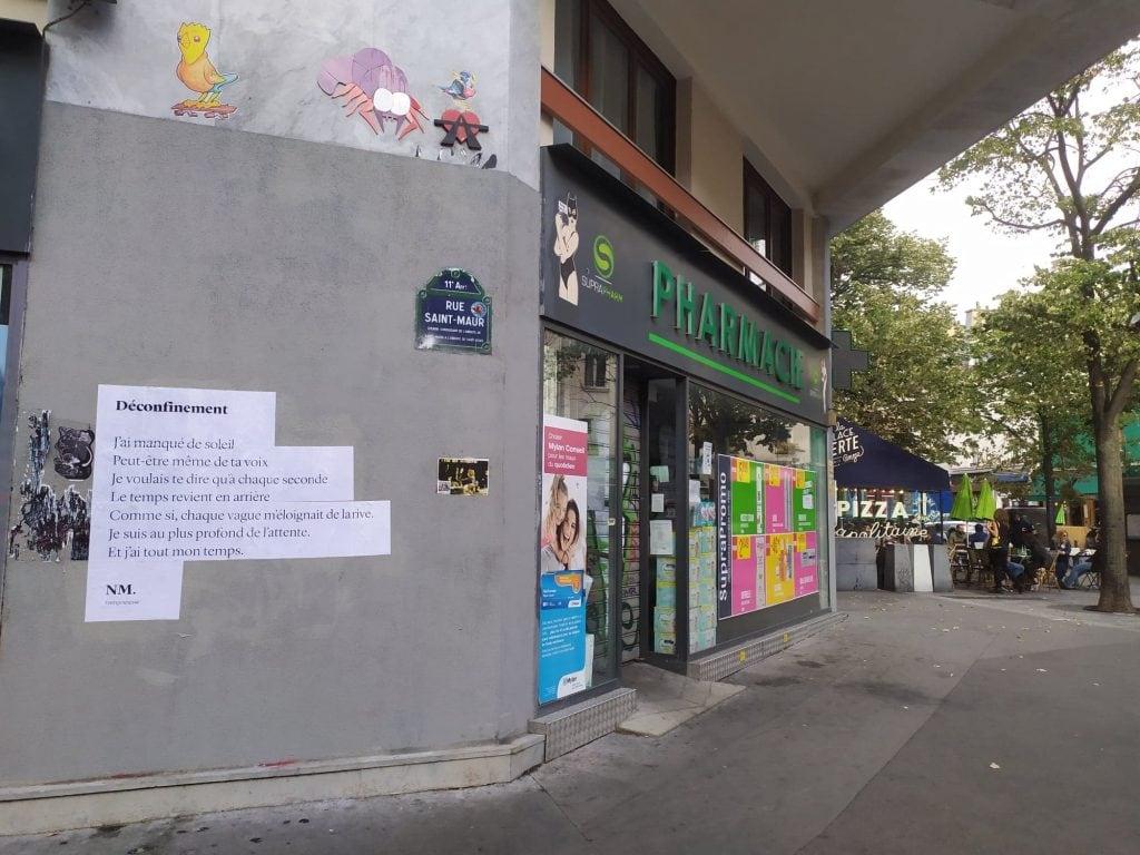 déconfinement nmpoetesse nathalieman poésie streetart paris saint maur mur oberkampf