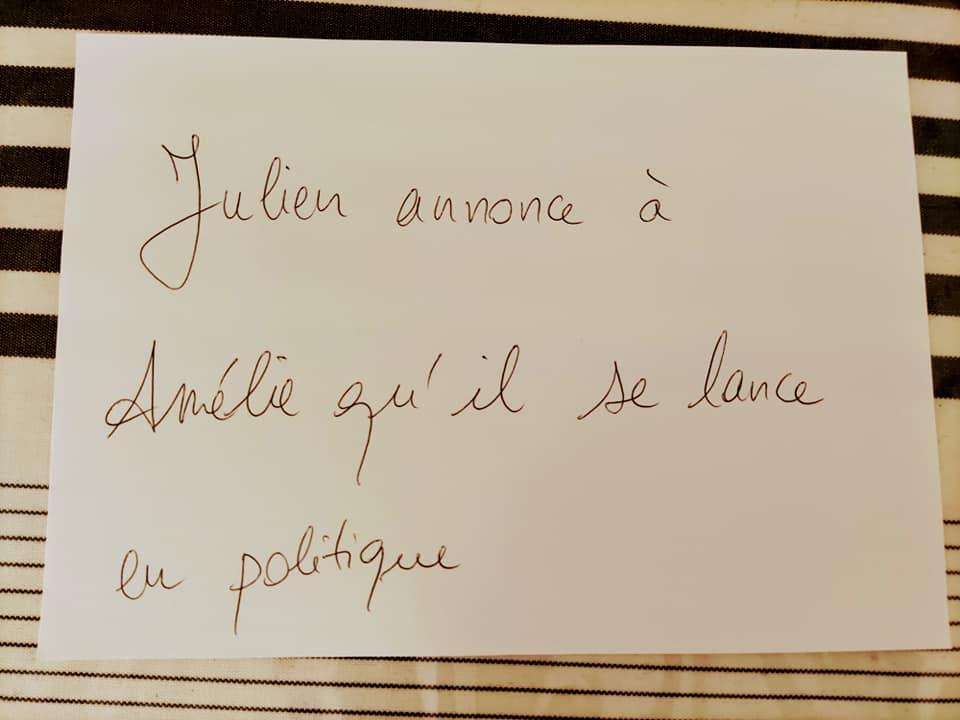 Julien se lance en politique romanphoto nathalieman amelieetjulien humour politique bordeauxmaville saintjeandeluz